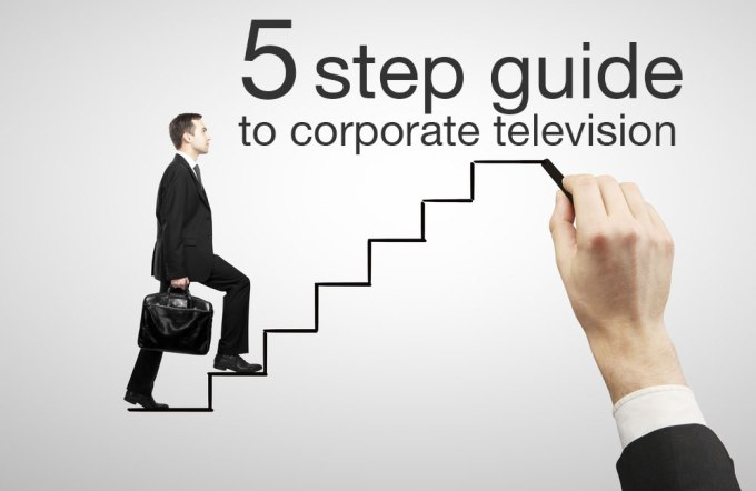 Corporate Television's 5 easy steps to corporate television
